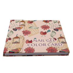 120 Colors Nail Display Book Nail Gel Polish Color Display Card Book Color Board Palette Stand with Nail Tips For Nail Art Salon