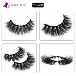 Hot Selling 5DW39 Make Up Eyelash Extension Tools For Beauty Natural Eyelashes 5D Mink Lashes Wholesale