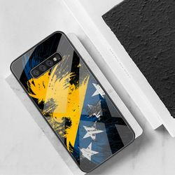 Bosnia and Herzegovina flag Phone Case Tempered Glass For Samsung S20 Plus S7 S8 S9 S10 Plus Note 8 9 10 Plus