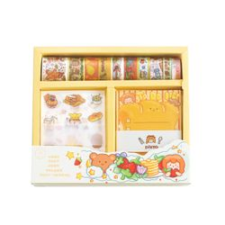 Qiduo Gift box fruit fairy tale set of student notebook stickers diary book net red gifts washi tape set Decorative tape