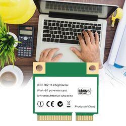 3000mbps wifi 6 wireless dual band half mini network pci-e wlan wifi card bluetooth 5.0 802.11ax / ac 2.4ghz / 5ghz adapter MU-M