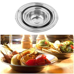 Picnic Bbq Stainless Steel Bowls Camping Portable Bowl Outdoor Household Kitchen Cooker(Set Of 5)