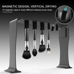 Magnetic Suction Brush Drying Storage Rack Cleaning And Drying Tools For Women Magnet Frame Make Up Brush Drying Rack