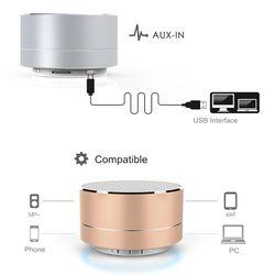 Wireless Mini Super Bass Bluetooth Music Speaker For Samsung iPhone iPad Tablet Silver Grey