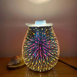 Electric Wax Melt Incense Burner Warmer Aroma Diffuser Lamp Light US Plug