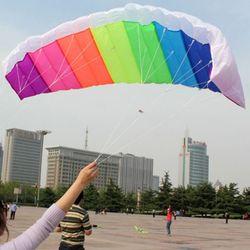 2021 NEW Rainbow Dual Line Kitesurfing Stunt Parachute Soft Parafoil Surfing Kite Sport Kite Outdoor Activity Beach Flying Kite