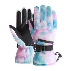 2020 New Unisex Graffiti Printing Touch Screen Ski Gloves Fleece Winter Warm Motorcycle Gloves Waterproof Snowboard Gloves