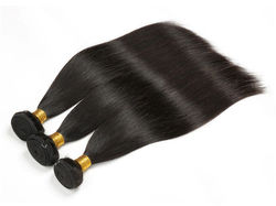 Hot Wave Cuticle Aligned Raw Virgin Brazilian Human Hair Weaving Bundles Extension for Women Natural Black Silky Straight Weft