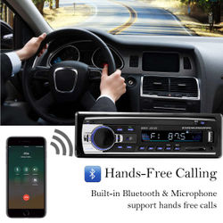 New 1 DIN 12V Car Stereo FM Car Radio Bluetooth MP3 Player Audio Support Bluetooth Phone USB/SD MMC Port ISO Connection In Dash