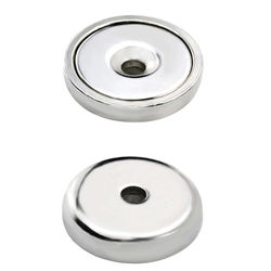 Rare Earth Cup Magnets Industrial Strength Round Base Neodymium Magnets 32mm high strength Pack of 10