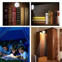 Foxanon LED Under Cabinet Light Universal Wardrobe Light Motion Sensor Night Light for Cupboard Closet Kitchen Children Lamp