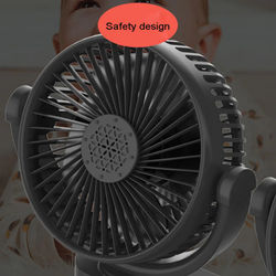 Dual Head 3-Speed 12V 24V Dashboard Car Suction Cup Cooling Fan With USB Charger