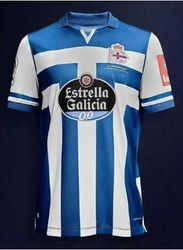 2020 2021 Home Blue Sporty Coruna Soccer 95 SPIRIT Jersey 12 DEPORTIVISTA SAINTS SABIN AKETXE MOLLEJO KONE Football S