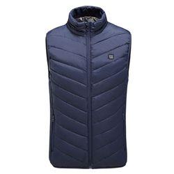 2021 New Outdoor Men Electric Heated Vest USB Heating Sleeveless Vest Winter Thermal Coat