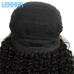 Lekker Afro Kinky Curly Wig Remy Hair Lace Front Human Hair Wigs Short Bob 13X4 Lace Wigs Long Bob Curly Human Hair Extenstions
