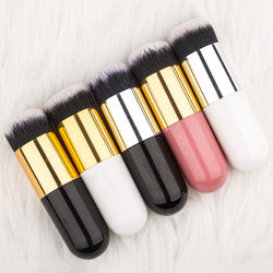 1pc Professional Cosmetic Make-up Brush Professional 5 Color Makeup Brush Flat Cream Chubby Pier Foundation Brush Makeup Brushes