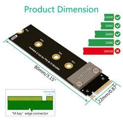 2021 New Riser PCIe x4 3.0 PCI-E 4x To M.2 NVMe M Key 2280 Riser Card Gen3.0 Cable 90