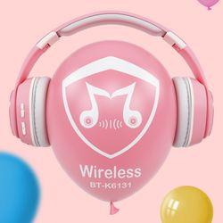 Bluetooth 5.0 LED Light Card Insert Wireless Stereo Headphone Headset Earphone