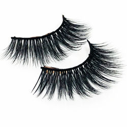 Flash Girl 5DW47 Pretty Soft 5D Mink Eyelashes Cruelty-Free False Eyelashes CrissCross Long Lash Faux Cils