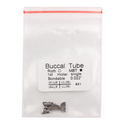 4Pcs/Pack Dental Orthodontic Buccal Tube Roth/MBT 0.022 1st/2nd Molar Dentistry Materials