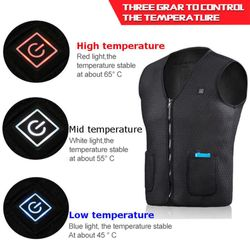 Men Women Heated Vest clothes USB Heating Jacket Winter Electric Thermal Waistcoat Outdoor Business clothing heating vest