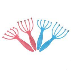 2pcs/lot Five Finger Head Relax Massager Hair Held SPA Scalp Neck Stress Relief Massager Release Steel Ball Massager