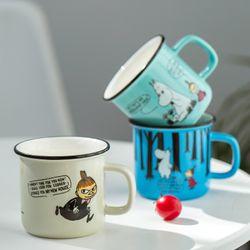 Creative ceramic mug cartoon fashion coffee mug retro enamel milk mug office household 300ml large capacity Coffee Cup