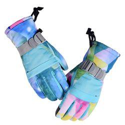 Kids Children Winter Warm Snowboard Touch Screen Ski Gloves Full Finger Mittens