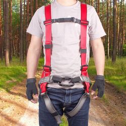 1 Pcs Adjustable Body Waist Harness Climbing Belt & 1 Pcs 10M Rock Climbing Rope Fire Escape Safety Rope with Carabiners