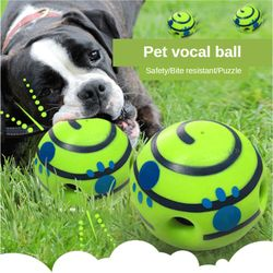Dog toy vocal ball sounds ball Training For Small Large Dogs Silicon Jumping Interactive Strong Rubber toy