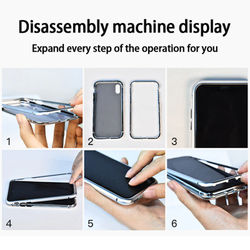 for iPhone 12 Case Double Side Magnetic Adsorption Glass Case for iPhone12 11 Pro Xs Max XR X 8 7 6 6s Plus Metal Frame Cover
