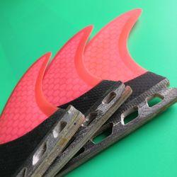 Future half carbon surf fin Pink honeycomb surfboard fins M size