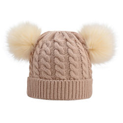 Baby Kids Girls Boys Winter Warm Knit Hat Furry Balls Pompom Solid Warm Cute Lovely Beanie Cap Gifts Baby Hat Boys Girls Gift