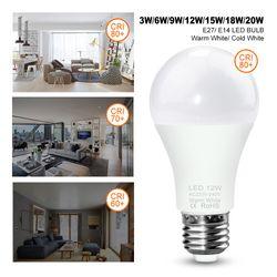 WENNI 220V E14 LED Lamp E27 LED Light 3W 9W 12W 15W 18W 20W LED Bulbs High Brightness Lampada For Home Lighting Bulb SMD 2835