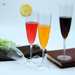 180ml Disposable Transparent Plastic Goblets Champagne Wineglass Cocktail Mug Wine Beer Juice Cups Party Supplies Kitchen Items