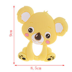 Bear Baby Teethers Silicone Teething Toys Chew Charms Infants Bpa Free Diy Necklace Pendant