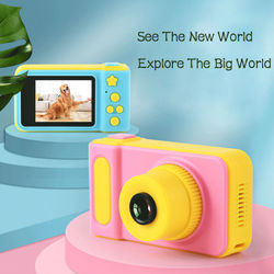 2020 Hot Sale Cheap Rechargeable Photo Video Playback Cameras Kids Toy For Girl Mini Children's Camera Child Birthday Present