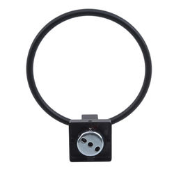 Black Towel Holder Ring Round Wall Mounted Bathing Towel Rack Stainless Steel Kitchen Bathroom Accessories