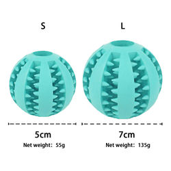 Pet Dog Toy Durable Rubber Ball Pet Dog Cat Puppy Teething Dental Healthy Treat Tooth Cleaning Ball Teeth Chew Toys