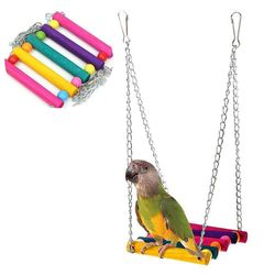 8Pcs Parrot toys Bird toy Swing Foraging Swing Bird Creative System Wheel Seed Food Ball Rotate Training Toy for Parrots