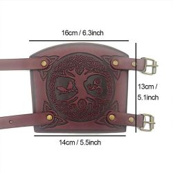 1 Pair Of Traditional Medieval Sleeve Cuffs Archery Arm Protection Full Forearm Leather Adjustable Bow Wrist Protection