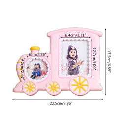 Creative Baby Cartoon Train Shape Photo Frame Infant Year Old Growth Picture Holder Birthday Gifts Desktop Ornaments