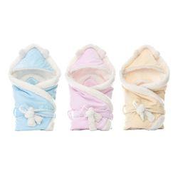 Newborn Baby Swaddle Blanket Sleeping Bag Universal Hooded Warm Stroller Wrap