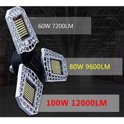 90 Degree Adjustable High Bay Workshop Warehouse Lights Industrial Lamp 60W 85V-265V Folding Brightness Energy Saving E27 Garage