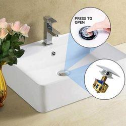 NEW Copper Bouncing Core Filter Cover with Basket Shower Bathroom Drain Plug Faucet Floor Hair Accessories Catcher Trap Bas M2J0