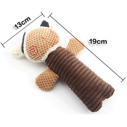 Cute Cartoon Decompression Animals Shaped Toys Plush Dog Cat Chew Squeeze Sound Toys Durability Chew Molar Toy Fit For All Pets
