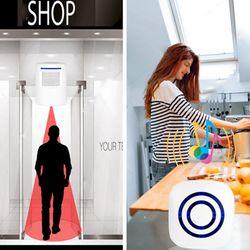 Wireless Doorbell PIR Infrared Sensor Motion Detector Entry Door Bell Alarm with Receiver & Transmitter EU Plug