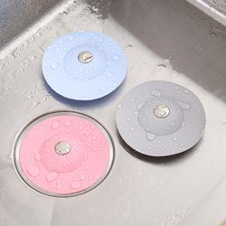 Kitchen push-type deodorant closed bounce silicone floor drain bathroom anti-clogging plastic sink filter floor drain plug