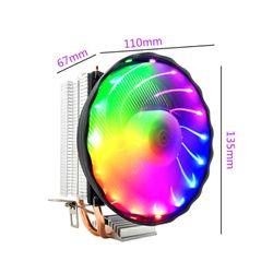 Mute Luminous LED Light CPU Cooling Fan Heat Dissipation Computer Accessory