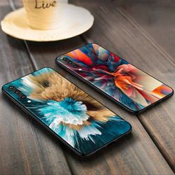 Color Beauty Fundas Anti-fall Phone Case for Samsung Galaxy A90 A80 A70S A60 A50S A40 A20E A20 A10S Soft Black Cover